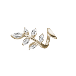 Christina Charm Leaf Twist 14 K.