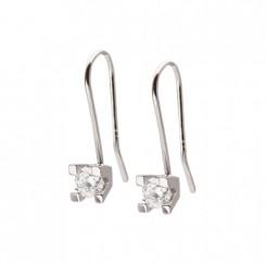 Possibilities ørebøjler i sølv med zirkonia