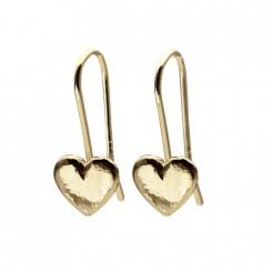 Possibilities hjerte øreringe 14 karat