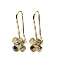 Possibilities 4 kløver øreringe 14 karat guld