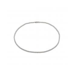 Sølv collier m. zirkonier