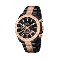 Festina - Stål Chronograf Sort/Rose/Gold/Blå