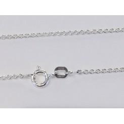 Rhodineret sølvkæde rund anker