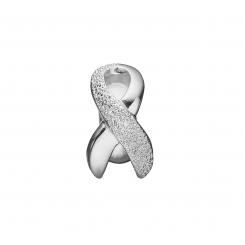 Knæk Cancer sløjfe Sølv
