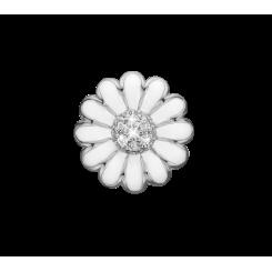 Øreclips White/Sølv