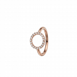 Topas Circle Ring Rosa