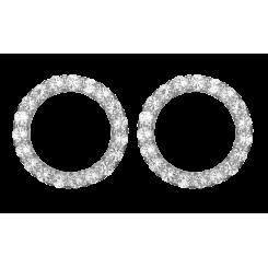 Topaz Sparkling Circle Sølv