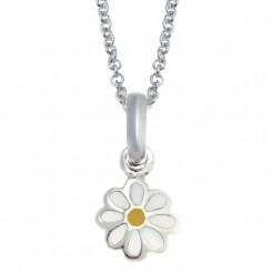 Sølv vedhæng m.daisy blomst inkl. kæde