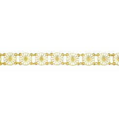 Marguerit Armbånd 13 x 11 mm forgyldt hvid