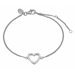 Topaz Heart bracelet, silver