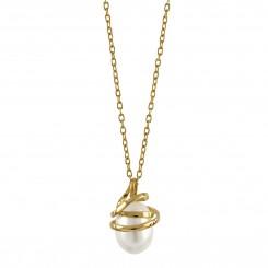 Guld collier - Serpentine