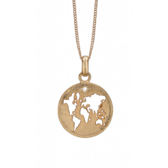 The World, pendant w/KV diamond, goldpl