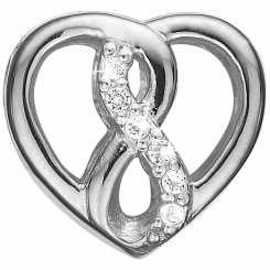 Eternity Heart Sølv Charms