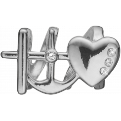 Faith, Hope & Love Charms