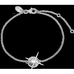 Åben blad, sølvarmbånd