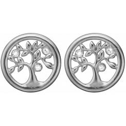 Tree of Life studs, silver