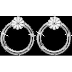 Marguerite cirkel, studs, sølv