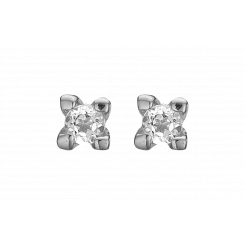 Labgrown diamant 0,10ct studs, sølv