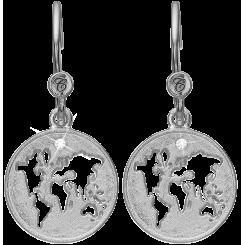 Verden, øreringe, sølv
