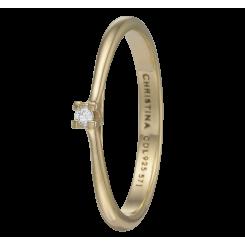 Labgrown Diamond 0,03ct, goldpl, Ring