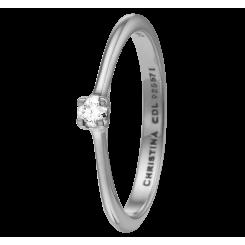 Labgrown Diamond 0,10 ct, sølv Ring