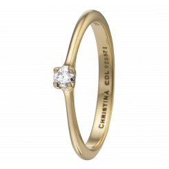 Labgrown Diamond 0,10ct, goldp Ring