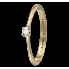 Labgrown Diamond 0,10ct, goldp Ring